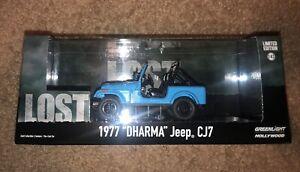Greenlight 1977 Dharma Jeep CJ 7 Hollywood Lost TV Series 1:43 Blue