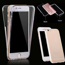 For iPhone 7 Front+Back 360° Clear Slim Full Body TPU Soft Protective Case Cover