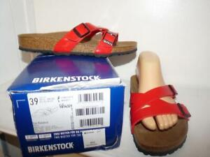 Birkenstock YAO BALANCE CHERRY Sandals Slides NWB 39 US Womens 8 Narrow