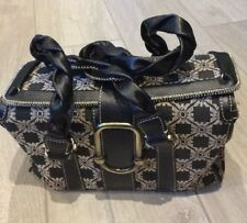 Emporio Armani Black And Beige Patterned Box Bag With Dustbag