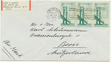 USA 1964 Completion of Verrazano Narrows Bridge Brooklyn 5 C (3) Air Mail cover