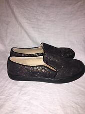 """PATRIZIA BY SPRING STEP """"Turmeric"""" Black and Gold Canvas Slip On Shoes- EUR 39"""