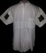 COMME DES GARCONS Short Sleeve Mens Button Front Shirt Size Medium White France