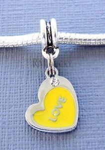 Pendant Charm Dangle HEART Love large hole Bead Fit European style Bracelet C112
