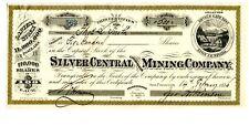 1876.    Devil's GateDistrict.  Lyon County, Nevada Silver Central Cons. Mining