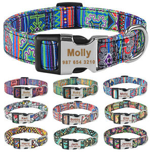 Personalised Dog Collar Name ID Tag Engraved for Small Medium Large Boy Girl Dog