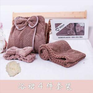 Bath Towel Set Quick-drying Bathrobe Hair Dry Cap Bath flower Ball Head band