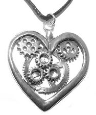 Large Heart Steampunk Gothic Pendant Necklace