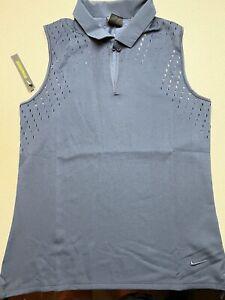NEW WT Nike Women's Dry Ace Keyhole Sleeveless Golf Polo CI9901-451 $80 XL