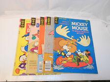 Walt Disney Mickey Mouse Donald Duck (1969) Gold Key - Lot of 5