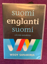 Immaculate Finnish English Suomi Englanti CD ROM DICTIONARY sanakirja WSOY