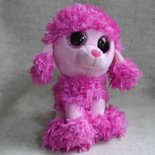 """New Ty Beanies Boos Poodle Pink Patsey Mint Stuffed doll 6"""" in hand"""