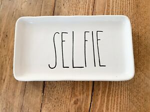 Rae Dunn Ceramic Serving Plate 'Selfie'- Rare!
