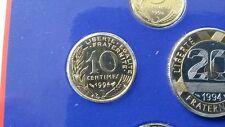 10 centimes 1994 SCELLE coffret FRANC Monnaie Paris BU FLEUR DE COIN FDC NEUF