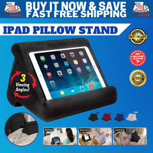 Tablet Pillow Stand Cushion Pad For iPad Book Reader Holder Rest Black Grey Oz