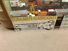Metal Dura-Brite Vintage Flashlights Sign Tools Hardware GAS OIL SODA COLA 48x20