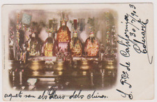 CHINA - INTERIOR OF CHINESE JOSS HOUSE -  POSTCARD USED 1903