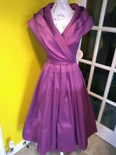 Lindy Bop Amber Plum Special Occasion Dress Size 8