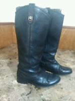 FRYE Riding Boots Women's Melissa Black Leather Size 6B Style 77167