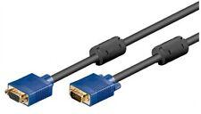 5m s-vga svga monitor verlängerung kabel pc99 15pol stecker an buchse kupplung