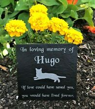 Personalised Engraved Pet Memorial Slate Grave Marker Stone Plaque Cat