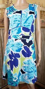 Title Nine 9 Size M Sleeveless Dream Dress Rightside Zip Pocket Multicolored EUC
