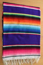 Mexican Sarape Purple,  Blanket, Rug, Picnic, Throw, Tablecloth, Hot Rod, Yoga