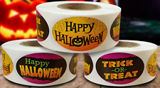 """Halloween Labels 500 Per Roll Great Stickers 1.25"""" x 2"""""""