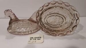 Boyd Crystal Art Glass - Vintage Chick Salt  #57 Oops - 2nd Generation