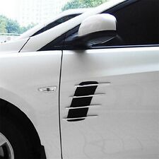 Universal Car Hood Side Flow Vent Fender Air Net Door Decals Auto Sticker DIY RX