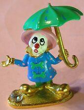 Pewter Spoontiques Clown Figurine w Umbrella K1381