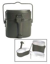GERMAN GENUINE 3 PIECES MESS KIT ARMY ALUMINIUM CANTEEN SET