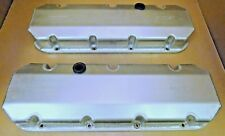 Moroso 68345 Fabricated Alum Valve Covers, BB Chevy, Stk Height, Pair,