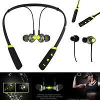 Verde Bluetooth Inalámbrico Auriculares SPORTS Eapieces Micro Para Lg Teléfono