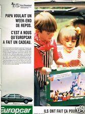 Publicité advertising 1990 Location de voiture Europcar