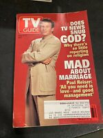 TV Guide #2158 August 6 1994 Paul Riser Does TV News Snub God Marriage Religion