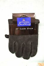 NEW SUEDE Chef Black BBQ Oven Grilling Mitt One Glove Suede Leather Cowhide