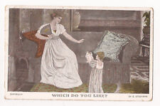 """(e68) """"Which Do You Like"""", Puppy Dogs, Mother and Child  1905 - Used"""