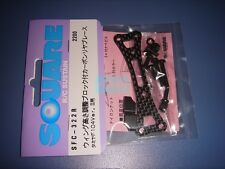Tamiya F104 Ver.2 Carbon Rear Brace/Wing Height Adjust Type (Square)