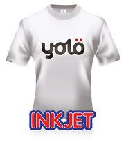 100x A4 yolö Inkjet T-Shirt Heat Transfer Paper for Light Coloured Fabrics