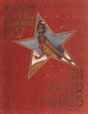 Folies Bergere Super Folies 1937 Josephine Baker program poster print  SKU2516