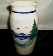 NGS CO 1981 CROCK WITH MOUNTAIN SCENE TREES & BIRDS