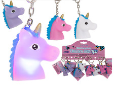 LED Unicorn Light Up Keyring Key Chain Kids Toy Gift 4cm Girls Stocking Filler