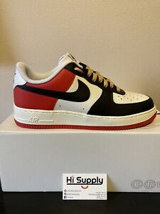 Nike Air Force 1 By You NIKEid Size 10.5 Mens White/Black/Red/ Chicago Black Toe