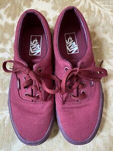 Vans Off The Wall Skate Athletic Tennis Shoe Size 6 Men / Women 7.5  Maroon