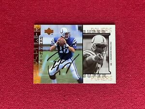 "1998, Peyton Manning, ""Autographed"" (JSA) ""UPPER DECK"" Rookie Card (Scarce)"