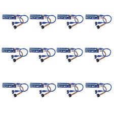 PCI-E Express USB3.0 1x bis 16x Extender Riser Kartenadapter SATA 6Pin Netzkabel