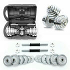 20/30kg Dumbbell Set Cast Iron Adjustable Weights Plate Barbell Home Gym Fitness
