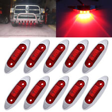 "10x Red 4"" LED Side Clearance Marker Lights Car Truck Tail Trailer Lamp 12V-24V"