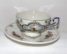 Dutch Polychrome Delft CUP and SAUCER with Windmill Scene